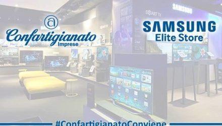 CONVENZIONE CONFARTIGIANATO-SAMSUNG ITALIA-Sconti fino al 44% per prodotti della tecnologia