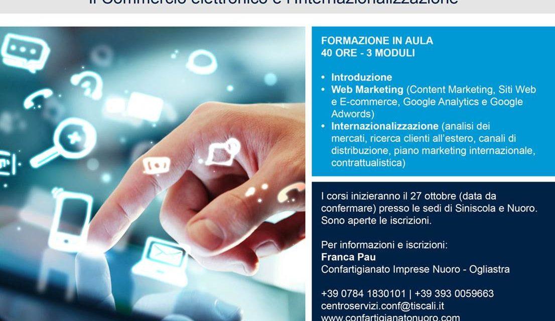 NUORO-Un corso per su E-Commerce ed Export-Venerdì 27 ottobre