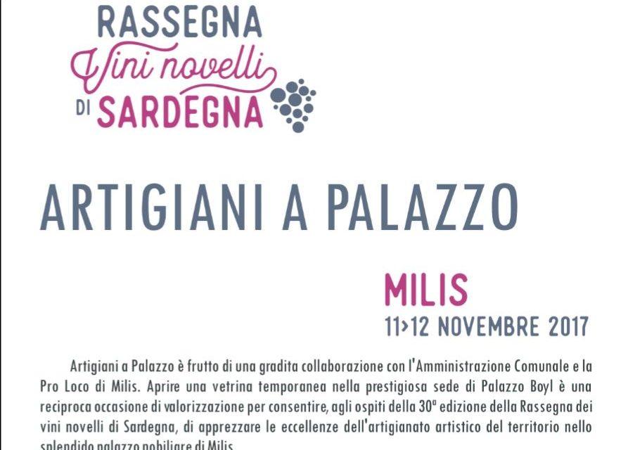 MILIS (OR)-Artigiani a Palazzo: A Milis l'artigianato artistico della Sardegna