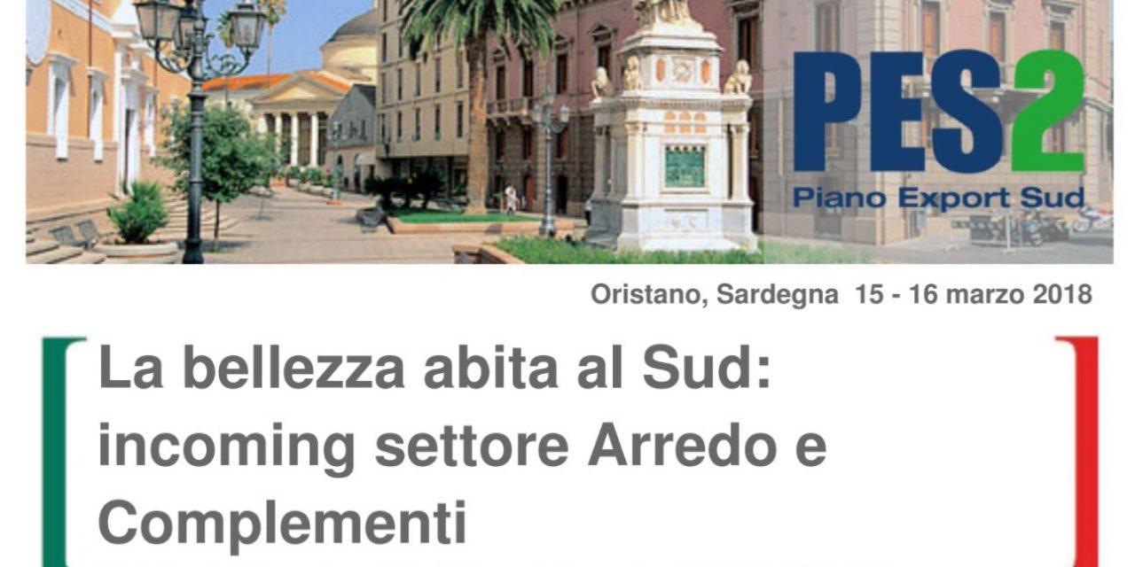 EXPORT ARREDO E COMPLEMENTI–Da Stati Uniti ed Europa in Sardegna per incontrare i produttori di mobili e complementi d'arredo