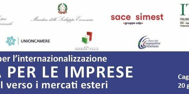 EXPORT-MERCOLEDI 20 A CAGLIARI LA TAPPA DEL ROADSHOW PER L'INTERNAZIONALIZZAZIONE