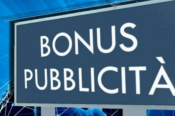 BONUS PUBBLICITA' – Lo Stato rimborsa le imprese per la pubblicità fatta sugli Organi di Informazione anche on line