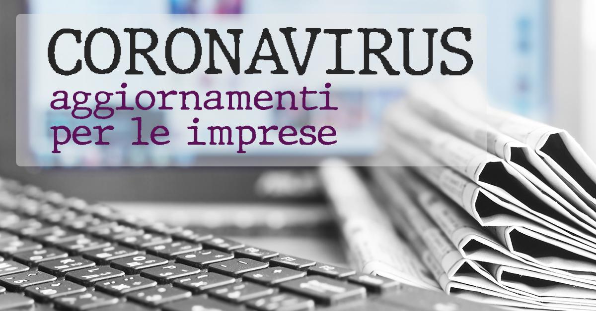DECRETO CORONAVIRUS-PRIME LINEE INTERPRETATIVE PER LE IMPRESE AL DPCM 11.3.2020 (aggiornamento 12-03-2020)