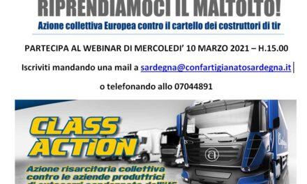 AUTOTRASPORTO – CLASS ACTION – RIPRENDIAMOCI IL MALTOLTO – APPUNTAMENTO WEBINAR MERCOLEDì 24 MARZO 2021 – iscriviti on line